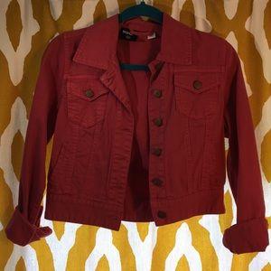 Pink BDG Cropped Denim Jacket